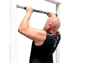 there are two types of doorway pull up bars one is the length adjustable model and the other requires a door frame